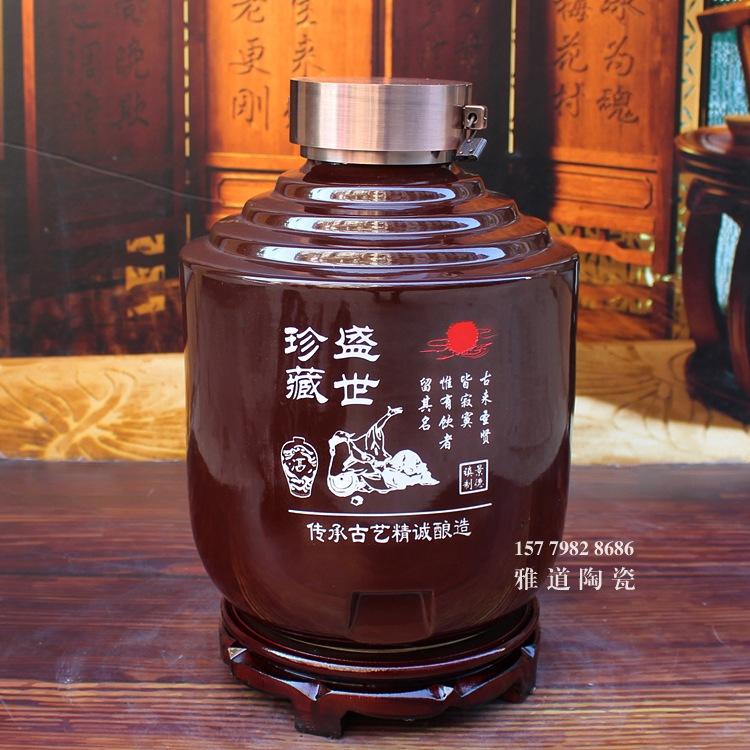 景德镇步步高系列雕刻陶瓷酒坛