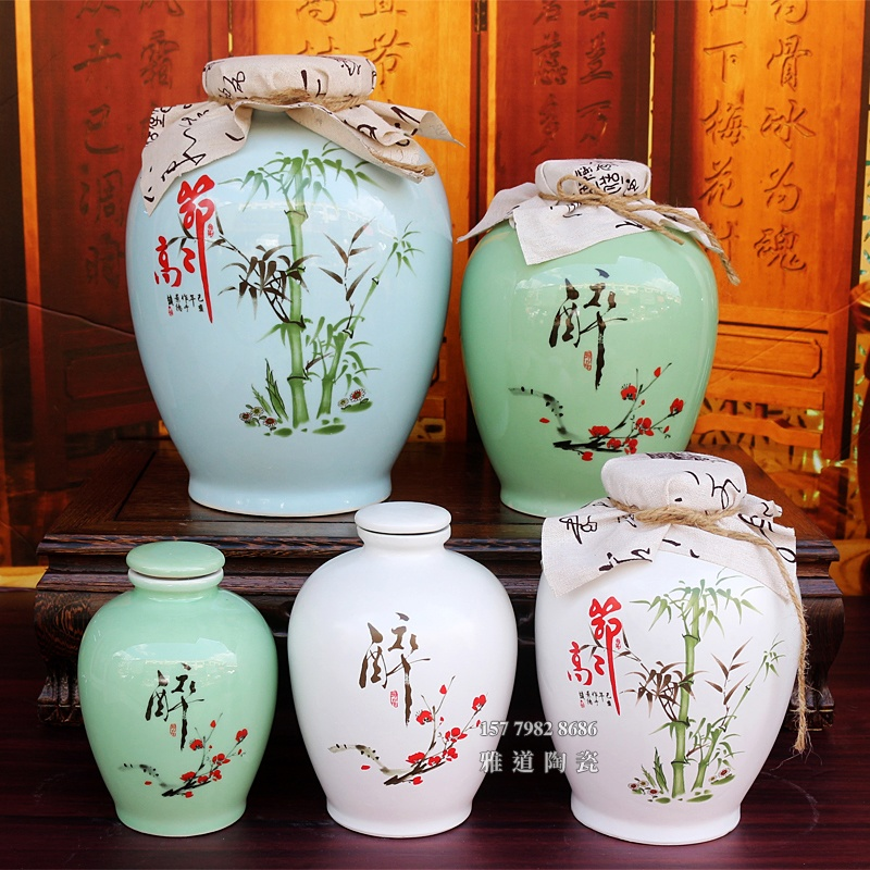 景德镇两斤陶瓷包布小酒坛系列
